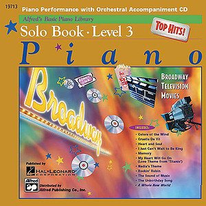 Alfred's Basic Piano Course - Top Hits! CD for Solo Book Level 3