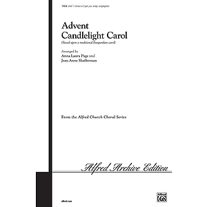 Advent Candlelight Carol - Unison Or 2-Part