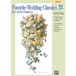 Favorite Wedding Classics for Solo Singers - Book (Medium Low)/Accompaniment CD