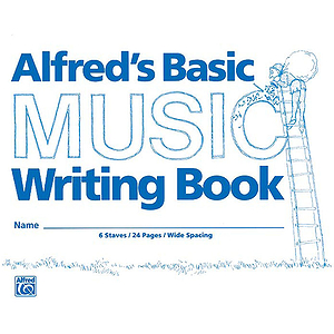 Alfred's Basic Music Writing Book - Wide Lines, 24 Pages