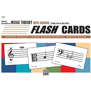 Essentials of Music Theory - Flash Cards (Note Naming)