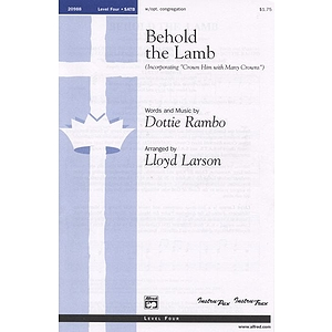 Behold the Lamb - SATB W/Opt. Congregation