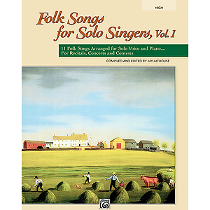 Folk Songs for Solo Singers, Vol. 1 - Book (High)