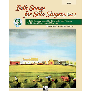 Folk Songs for Solo Singers, Vol. 1 - Book and Compact Disc (High)