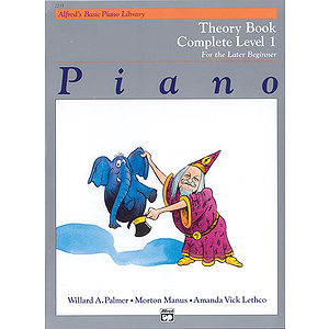 Alfred's Basic Piano Course - Theory Book Complete Level 1 (1A/1B)
