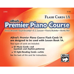 Alfred's Premier Piano Course - Flash Cards Level 1A