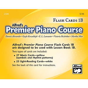 Alfred's Premier Piano Course - Flash Cards Level 1B