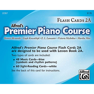 Alfred's Premier Piano Course - Flash Cards 2A