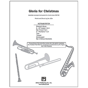 """Gloria for Christmas (Incorporating the Traditional Carol, """"Angels We Have Heard on High"""") - InstruPax"""