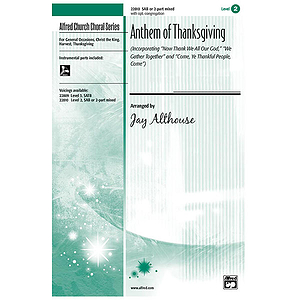 Anthem of Thanksgiving - SAB W/Opt. Congregation