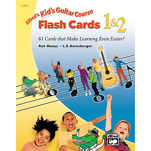 Kid's Guitar Course 1 & 2 Flash Cards
