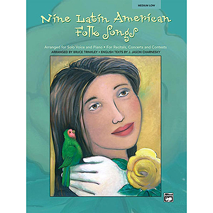 Nine Latin American Folk Songs for Solo Voice and Piano - Book and Accompaniment CD (Medium Low)
