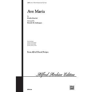 Ave Maria - TTBB W/Optional Flute