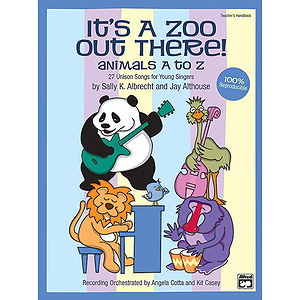 It&#039;s A Zoo Out There - Animals A To Z (27 Unison Songs for Young Singers) - CD Kit - Book &amp; CD