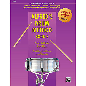 Alfred's Drum Method, Book 2 - Book & DVD in Sleeve