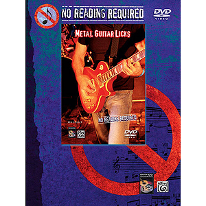 No Reading Required - Metal Guitar Licks - DVD