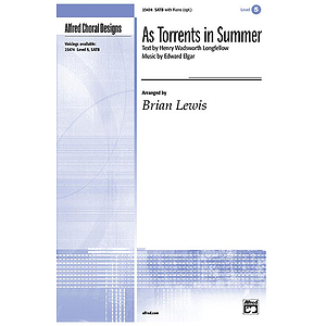As Torrents in Summer - SATB (Opt. A Cappella)