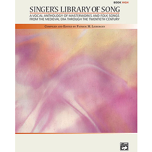 Singer's Library of Song - Book (High)