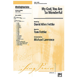 My God, You Are So Wonderful - SATB