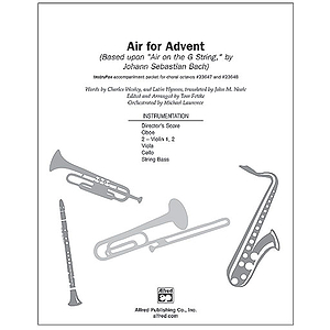 "Air for Advent (Based Upon ""Air on A G String,"" By Johann Sebastian Bach) - InstruPax"