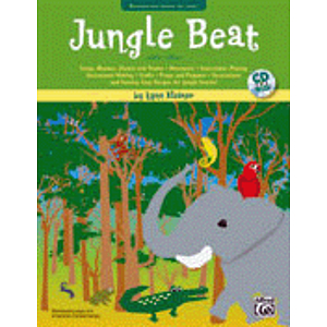 Jungle Beat - Deluxe Kit (Includes Book/CD, Jungle Drum, Elephant Puppet, Hand Stamp, in A !Jungle! Tote Bag)