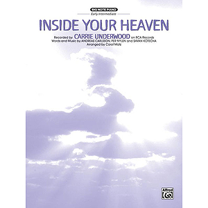 Carrie Underwood - Inside Your Heaven - Big Note Piano