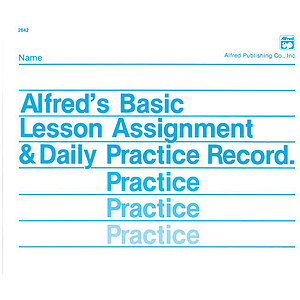 Lesson Assignment and Practice Record