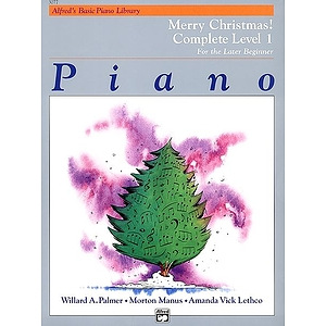 Alfred's Basic Piano Course - Merry Christmas! Book - Complete Level 1 (1A/1B)
