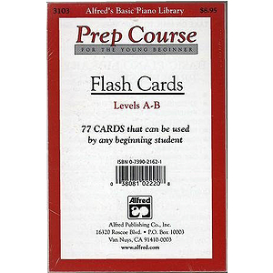 Alfred's Basic Piano Prep Course - Flash Cards Levels A & B