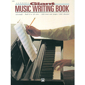 Music Writing Book - 9 X 12, 12 Staves, 320 Pages