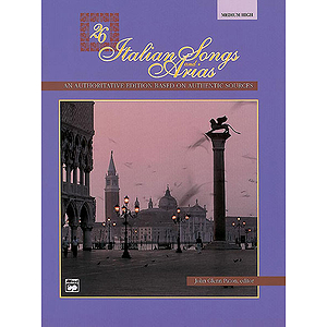 26 Italian Songs and Arias - Medium High Voice - Book & CD