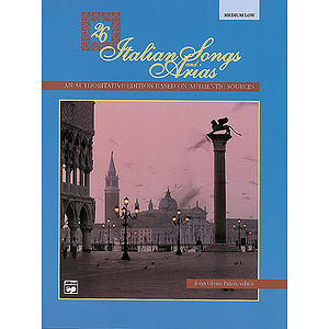 26 Italian Songs and Arias - Medium Low Voice - Book