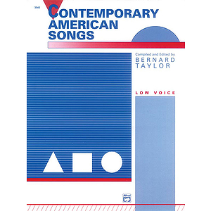 Contemporary American Songs Low Voice and Piano