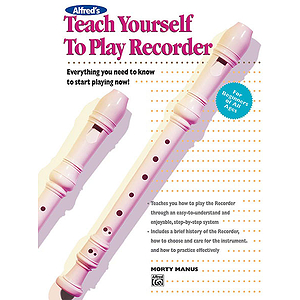 Alfred's Teach Yourself To Play Recorder - Book