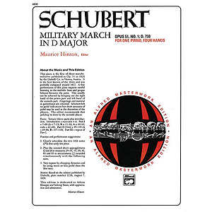 Schubert - Military March, Op. 51, No. 1 (1P, 4H)