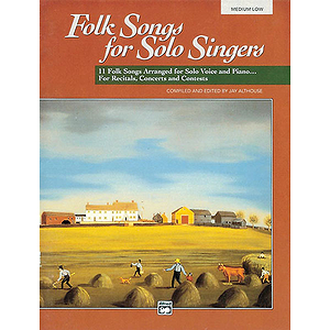 Folk Songs for Solo Singers - Vol. 1, Medium Low - Book