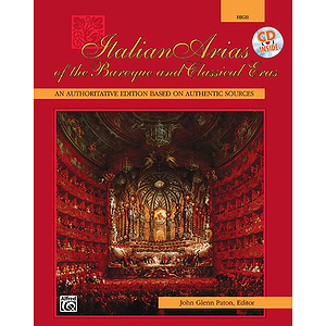 Italian Arias of The Baroque and Classical Eras - Book and Compact Disc (High)