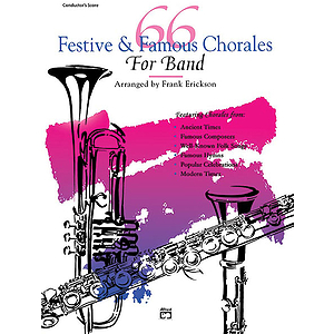 66 Festive and Famous Chorales for Band: Percussion, Snare Drum, Bass Drum
