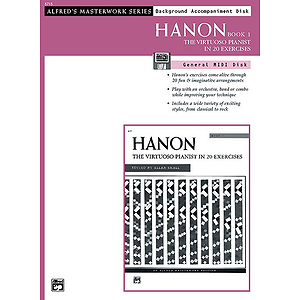 Hanon - the Virtuoso Pianist, General MIDI Disk, Book 1 (W/ Background Accomp.)