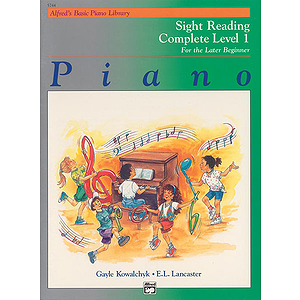 Alfred's Basic Piano Course - Sight Reading Book - Complete Level 1 (1A/1B)