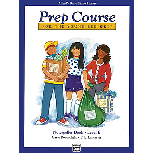Alfred's Basic Piano Prep Course - Notespeller Book Level E