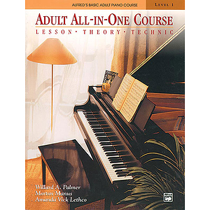 Alfred's Adult All-In-One Piano Course - Level 1 - Book