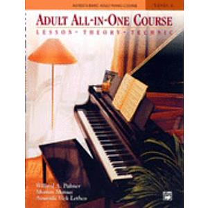 Alfred's Adult All-In-One Piano Course - Level 1 - Book & CD