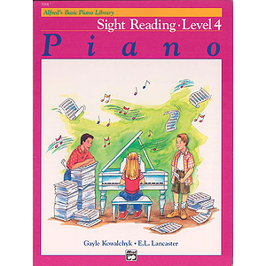 Alfred's Basic Piano Course - Sight Reading Book Level 4