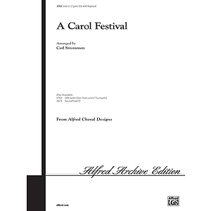 Carol Festival, A - 2-Part/SSA W/Optional Flute and 2 Trumpets
