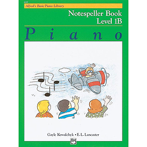 Alfred's Basic Piano Course - Notespeller Book Level 1B