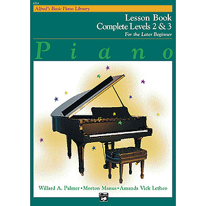 Alfred's Basic Piano Course - Lesson Book - Complete Level 2 & 3