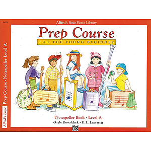 Alfred's Basic Piano Prep Course - Notespeller Book Level A