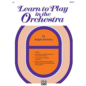 Learn To Play in The Orchestra, Book 1: Violin I