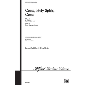 Come, Holy Spirit, Come - SATB W/Optional Flute
